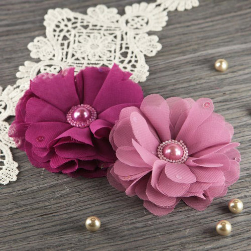 Prima - Matriarch Collection - Fabric Flower Embellishments - Rose