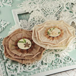Prima - Via Flaminia Collection - Flower Embellishments - Caffe, BRAND NEW
