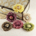 Prima - Trinket Collection - Fabric Flower Embellishments - Moulin Rouge