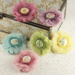 Prima - Trinket Collection - Fabric Flower Embellishments - Sweet Fairy