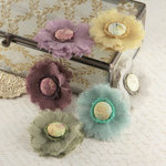 Prima - Trinket Collection - Fabric Flower Embellishments - Botanical