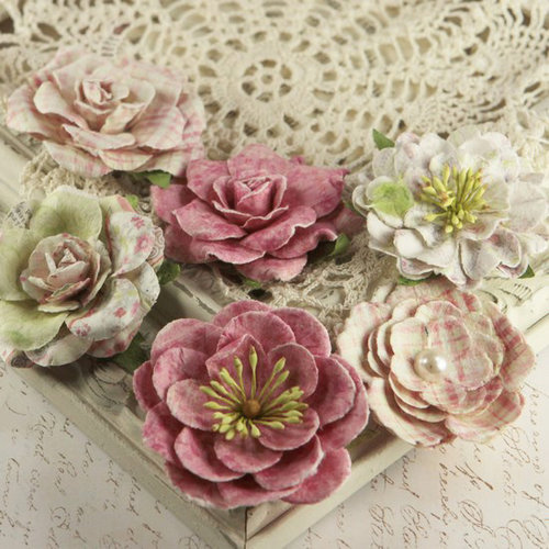 Prima - Paloma Collection - Flower Embellishments - Sparkling Spring