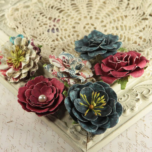 Prima - Paloma Collection - Flower Embellishments - Reflections