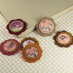 Prima - Gianna Collection - Fabric Flower Embellishments - Melody