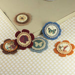 Prima - Gianna Collection - Fabric Flower Embellishments - Reflections