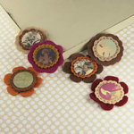 Prima - Gianna Collection - Fabric Flower Embellishments - Moulin Rouge
