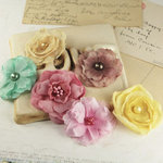 Prima - Whisper Collection - Fabric Flower Embellishments - Madeline