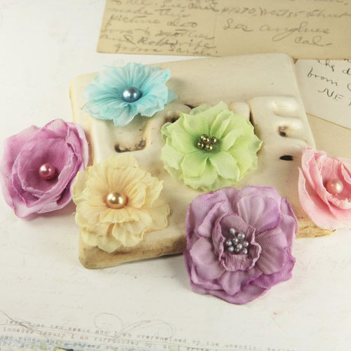 Prima - Whisper Collection - Fabric Flower Embellishments - Sweet Fairy
