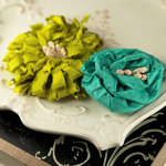 Prima - Dechire Collection - Fabric Flower Embellishments - Nanette, CLEARANCE