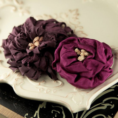 Prima - Dechire Collection - Fabric Flower Embellishments - Mystique