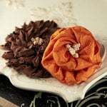 Prima - Dechire Collection - Fabric Flower Embellishments - Capucina