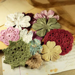 Prima - Love Note Collection - Flower Embellishments - Botanical