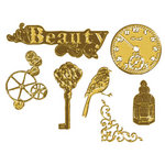 Prima - Vintage Trinkets Collection - Metal Embellishments - Antique Brass Mix 2