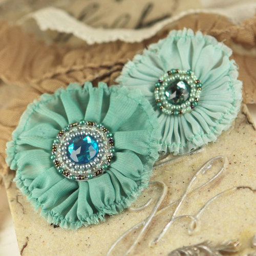 Prima - Regent Collection - Fabric Flower Embellishments - Cumberland