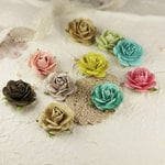Prima - Sugar Blooms Collection - Flower Embellishments - Sparkling Spring, CLEARANCE