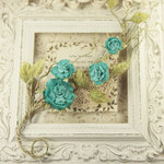 Prima - Summer Carnation 2 Collection - Flower Embellishments - Turkish Stone