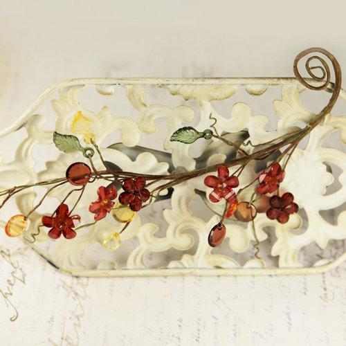 Prima - Cinderella Collection - Vine Border - Bird Cherry