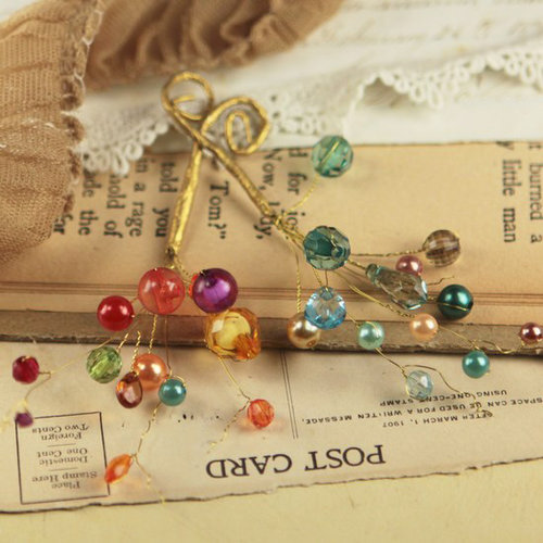 Prima - Candy Gems Collection - Spray Embellishments - Jelly Bean