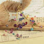 Prima - Candy Gems Collection - Spray Embellishments - Blue Berry