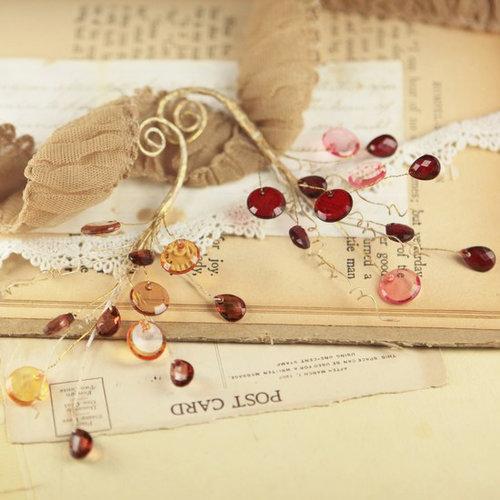 Prima - Candy Gems Collection - Spray Embellishments - Caramel Apple
