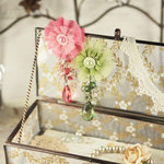 Prima - Angel Eyes Collection - Fabric Flower Embellishments - Madeline