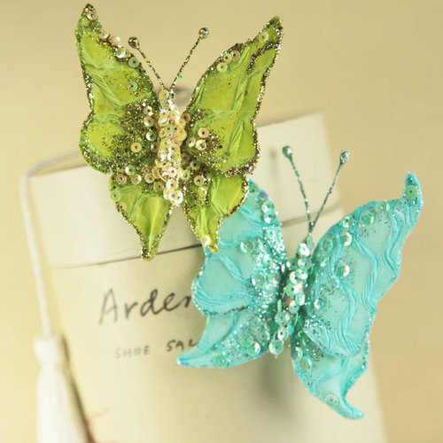 Prima - Butterfly Kiss Collection - Butterfly Embellishments - Madeline