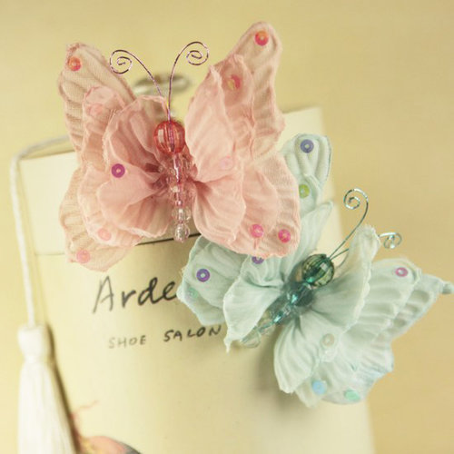 Prima - Butterfly Kiss Collection - Butterfly Embellishments - Celebrate Jack and Jill