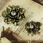 Prima - Vintage Trinkets Collection - Metal Embellishments - Flowers Mix 1