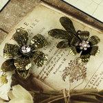 Prima - Vintage Trinkets Collection - Metal Embellishments - Flowers Mix 2