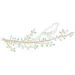 Prima - Say It In Crystals Collection - Self Adhesive Jewel Art - Bling - Branches with Bird - Green