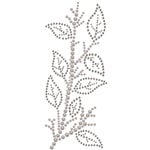 Prima - Say It In Crystals Collection - Self Adhesive Jewel Art - Bling - Leaves Spray - Gray