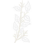 Prima - Say It In Crystals Collection - Self Adhesive Jewel Art - Bling - Leaves Spray - White