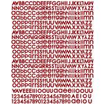 Prima - Pixie Glen Collection - Textured Stickers - Alphabet