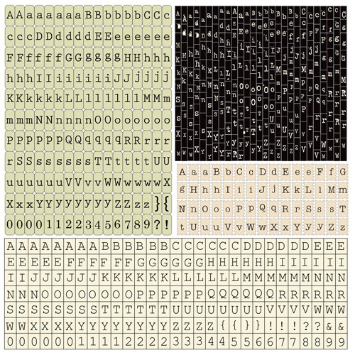 Prima - Printery Collection - Cardstock Stickers - Alphabet - Typeset
