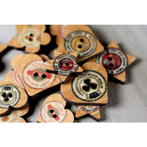 Prima - Toggle - Wood Buttons - Quirky