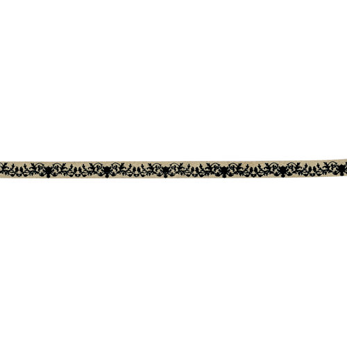 Prima - Ornamental Edging Collection - Trim - Twill - Black Pattern - 18 Yards