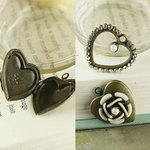 Prima - Tiny Treasures Collection - Metal Embellishments - Hearts Mix 2