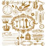 Prima - Printery Collection - Flocked Rub Ons