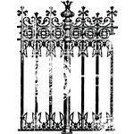 Prima - Clear Acrylic Stamps - Fence