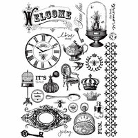 Prima - Printery Collection - Cling Mounted Rubber Stamps