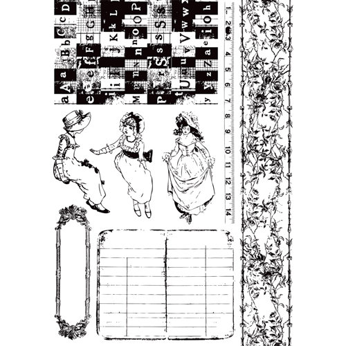 Prima - Romantique Collection - Cling Mounted Rubber Stamps