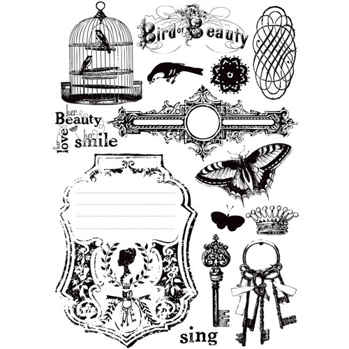 Prima - Londonerry Collection - Cling Mounted Rubber Stamps