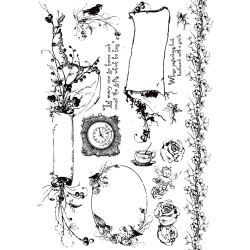 Prima - Pixie Glen Collection - Cling Mounted Rubber Stamps