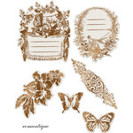 Prima - Romantique Collection - Reflections - Antique Transparent Mirrors