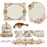 Prima - Pixie Glen Collection - Reflections - Antique Transparent Mirrors