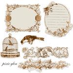 Prima - Pixie Glen Collection - Reflections - Antique Transparent Mirrors