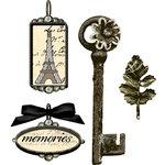 Prima - Tiny Treasures Collection - Precious Metal Embellishments - Paris