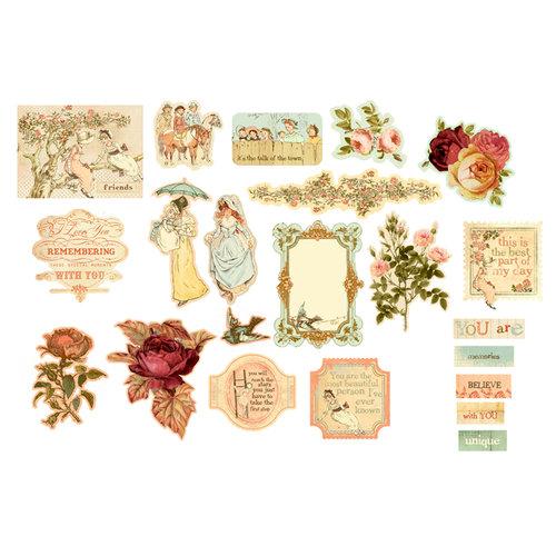 Prima - Romantique Collection - Chipboard Stickers