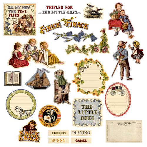 Prima - Londonerry Collection - Chipboard Stickers