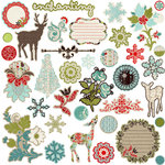 Prima - North Country Collection - Christmas - Chipboard Stickers